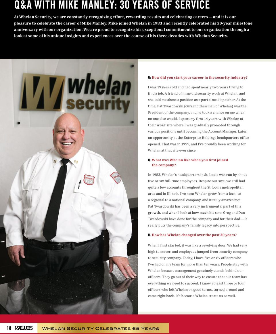 Whelan Celebrates 65 Years a look back on our early years ...