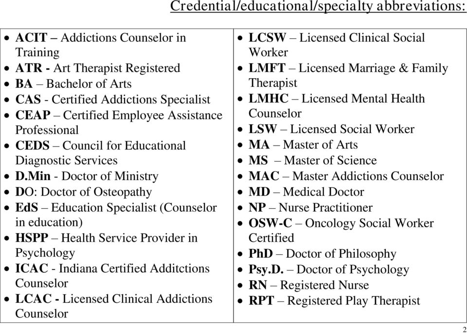 Agency Referral List For Carmel High School Counseling Department