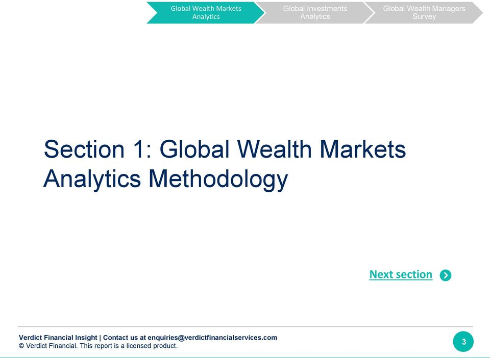 Markets Methodology