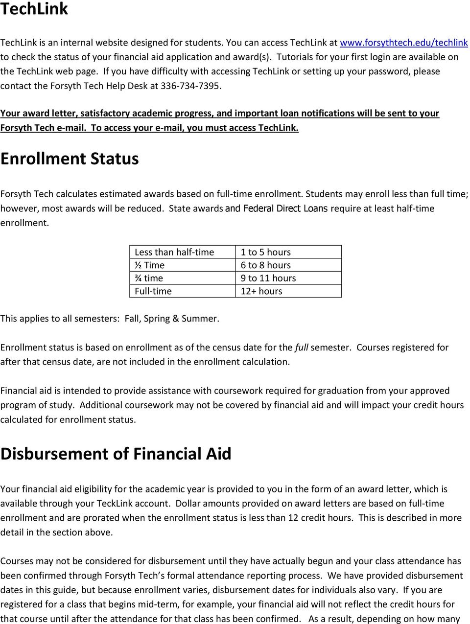 Guide To Financial Aid At Forsyth Tech Pdf Free Download