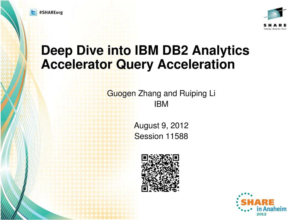 Deep Dive into IBM DB2 Analytics Accelerator Query Acceleration - PDF