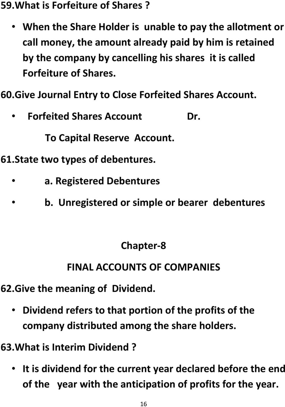 what is meant by forfeiture of shares