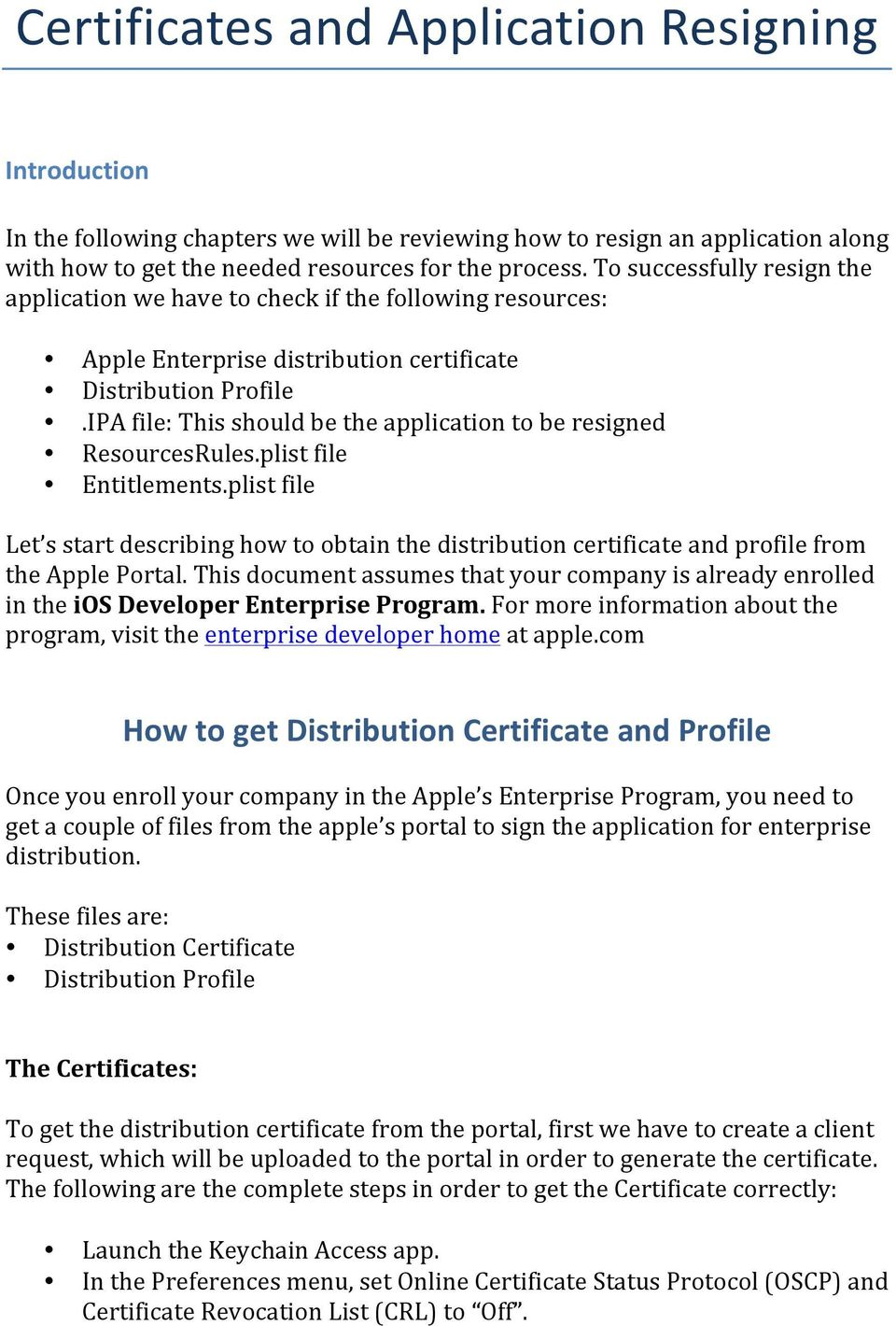 Certificates and Application Resigning - PDF
