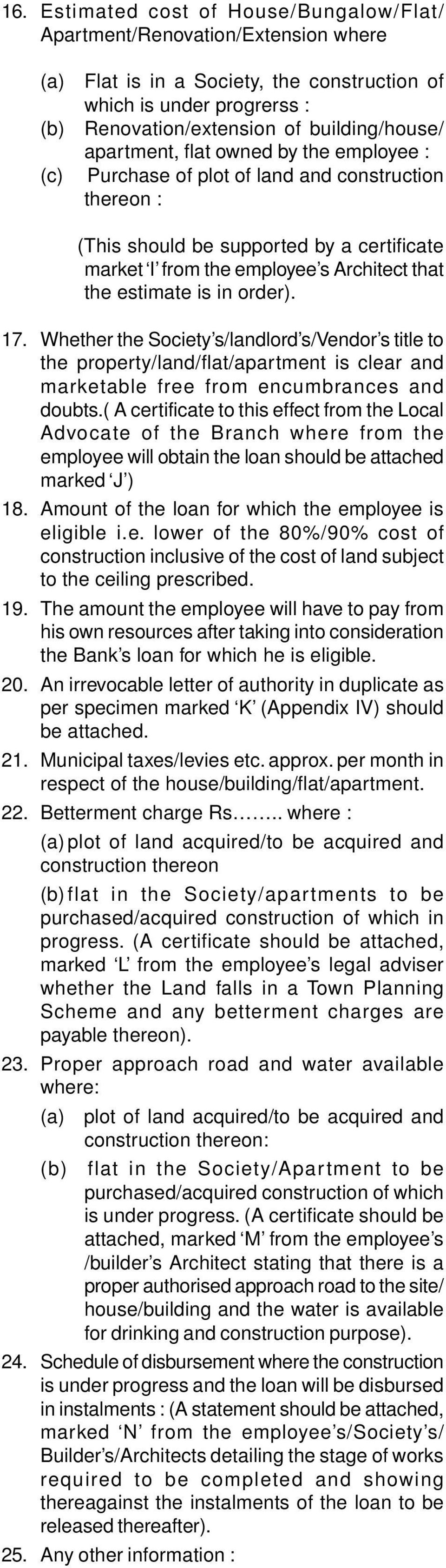 Sbi Housing Loan Documents Required From Applicant Staff 1