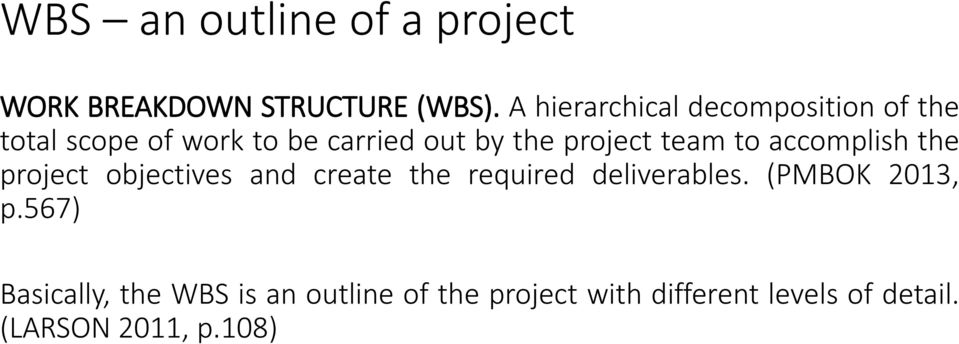 project team to accomplish the project objectives and create the required deliverables.