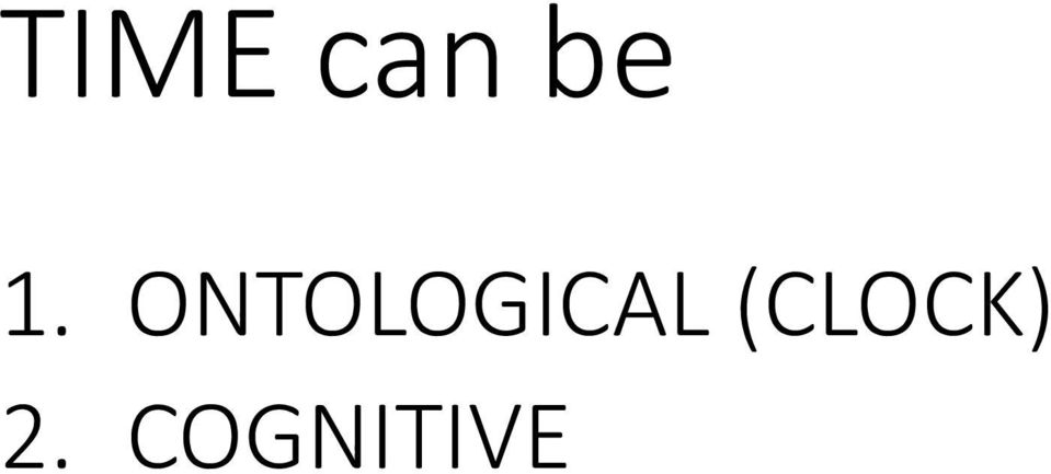 ONTOLOGICAL