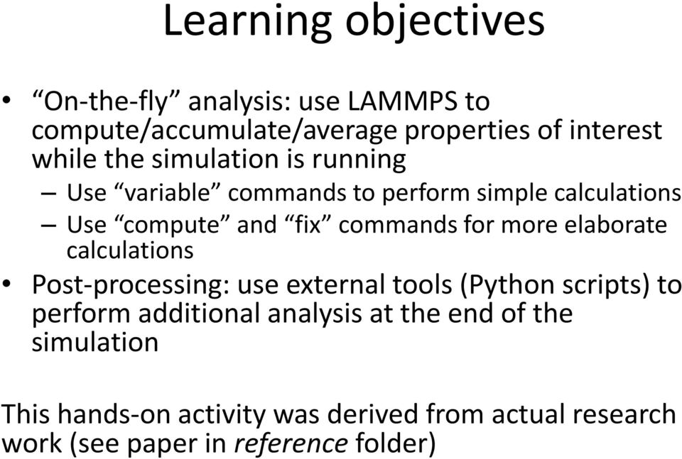 Hands-on: Data analysis and advanced scripting  Mario Orsi - PDF