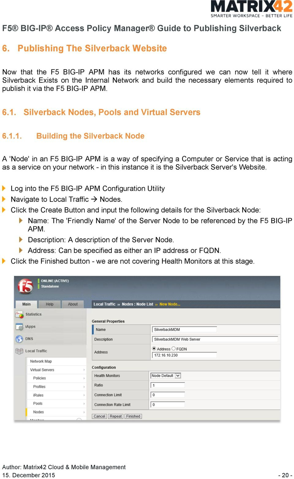 Silverback by Matrix42 F5 BIG-IP Access Policy Manager Guide to