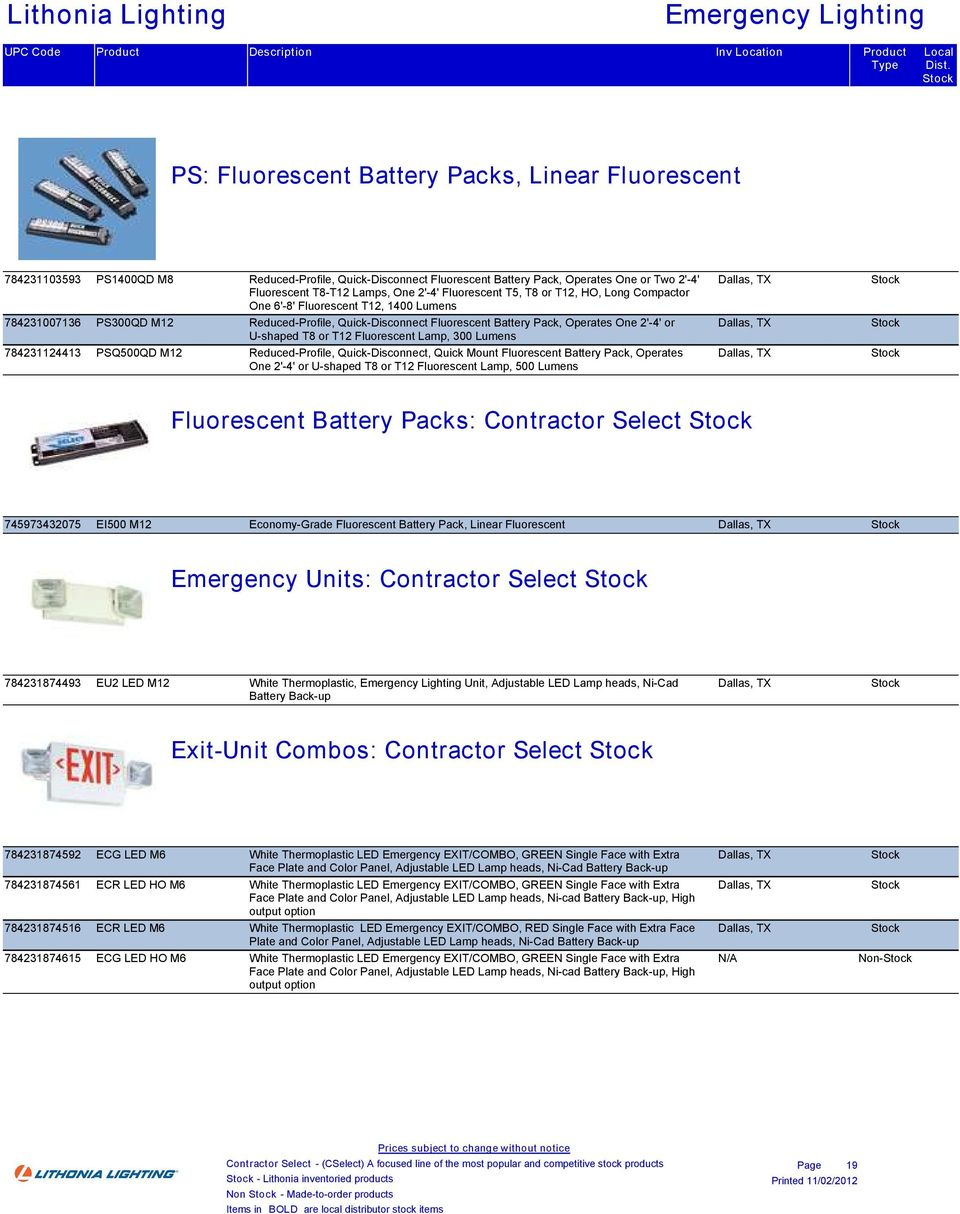 Lensed Troffers Contractor Select Stock Pdf Wiring Diagram For Ps1400 Free Download Reduced Profile Quick Disconnect Fluorescent Battery Pack Operates One 2
