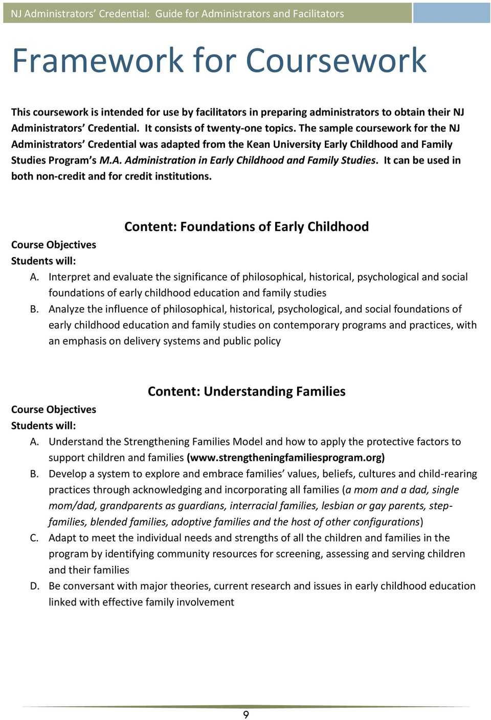 Nj Administrators Credential Guide For Administrators And