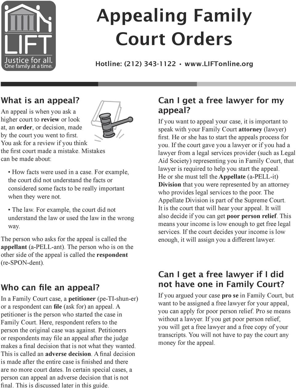 Appealing Family Court Orders - PDF