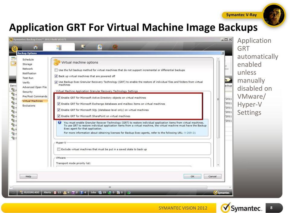 Application GRT automatically enabled