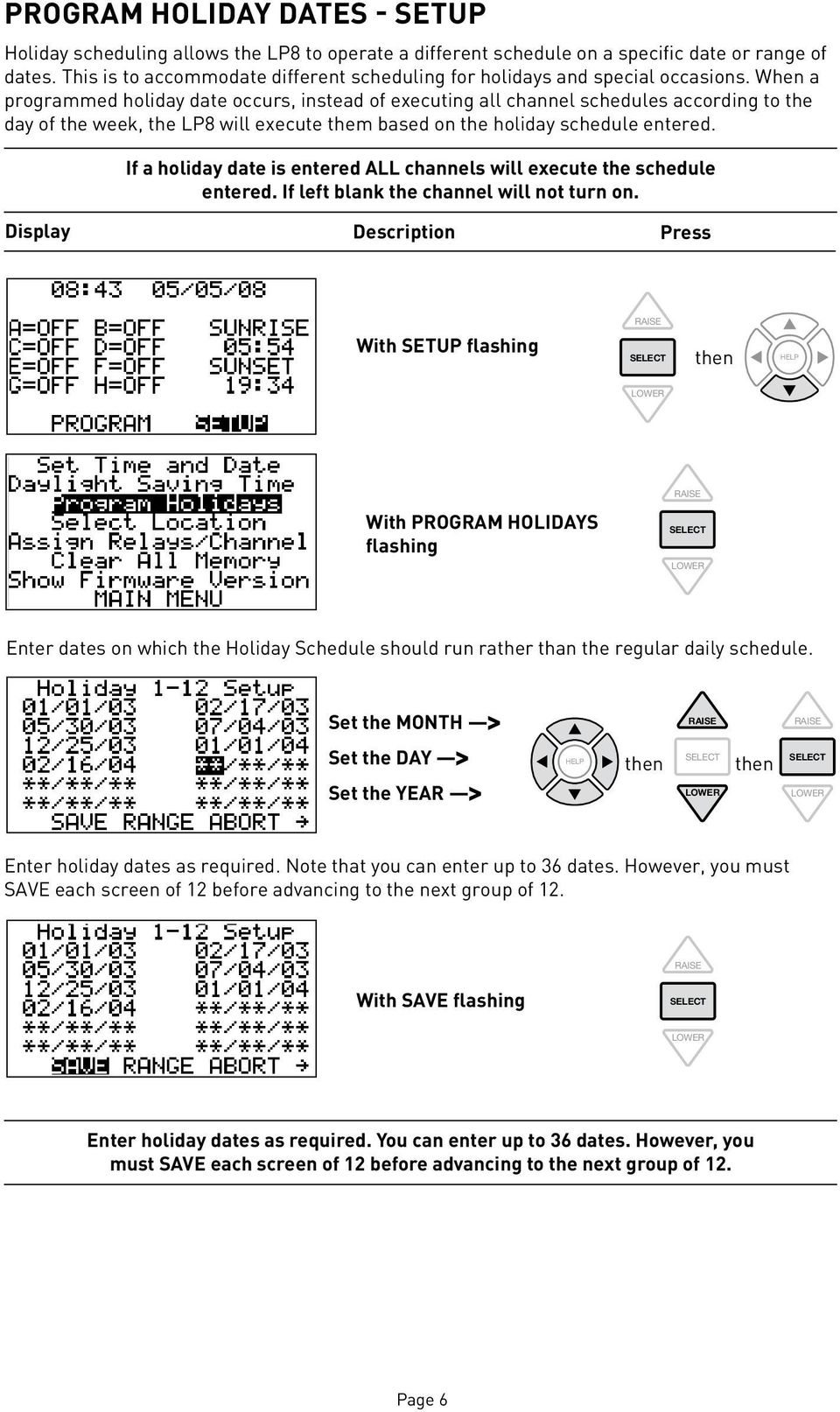 LP Series Lighting Control Panel Programming Instructions - PDF on