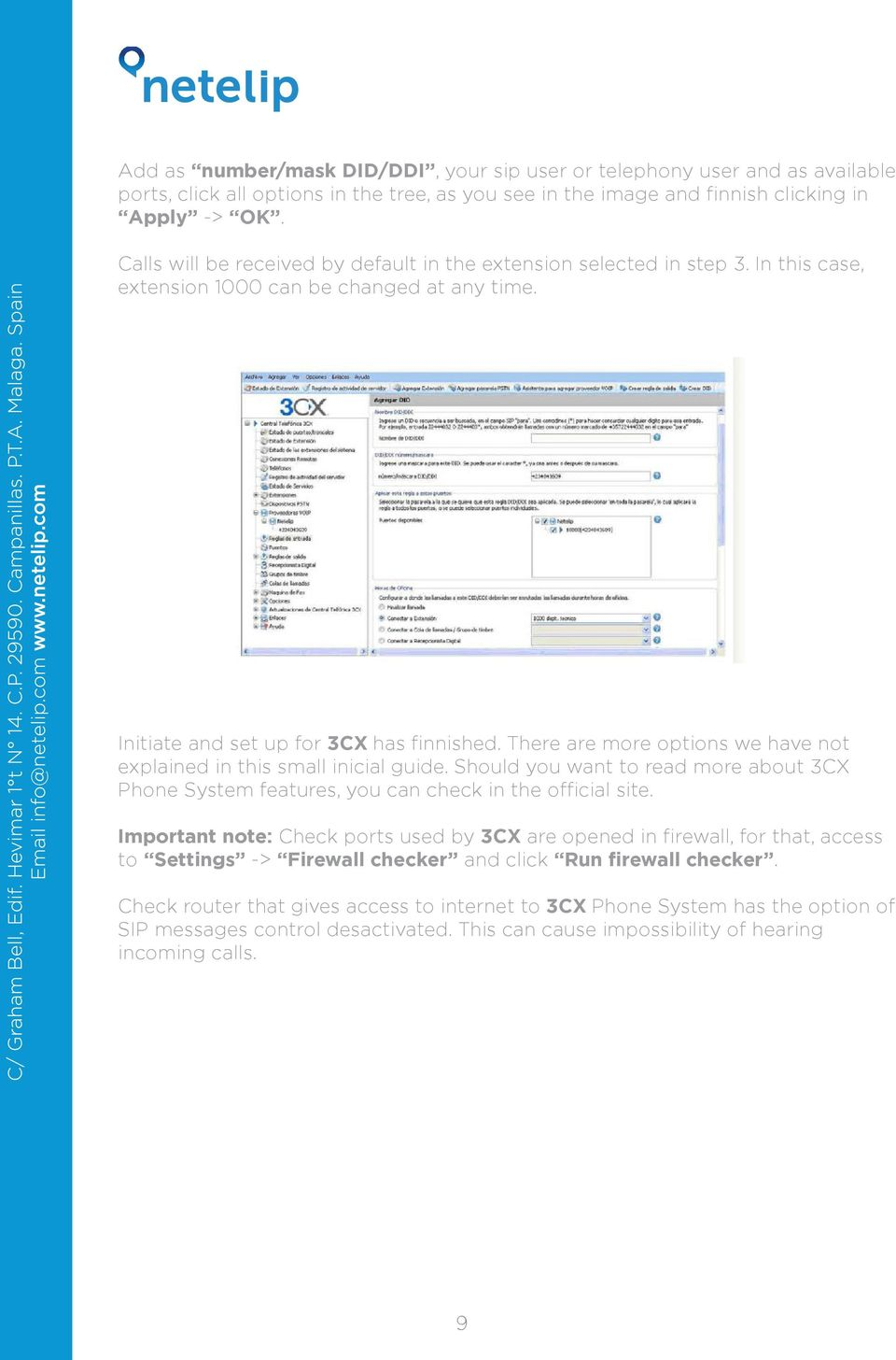 Configure your 3CX in our IP telephone service  - PDF