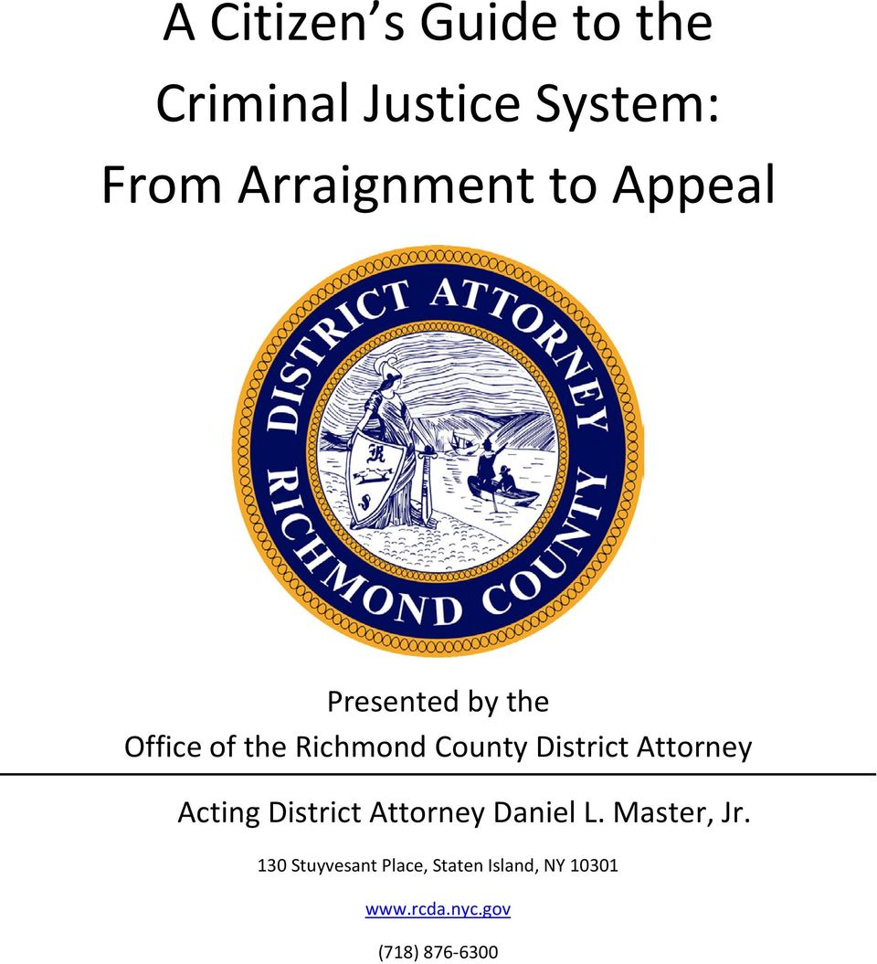 Attorney Acting District Attorney Daniel L. Master, Jr.