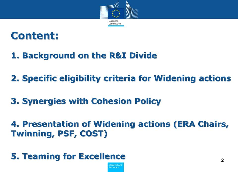 Synergies with Cohesion Policy 4.