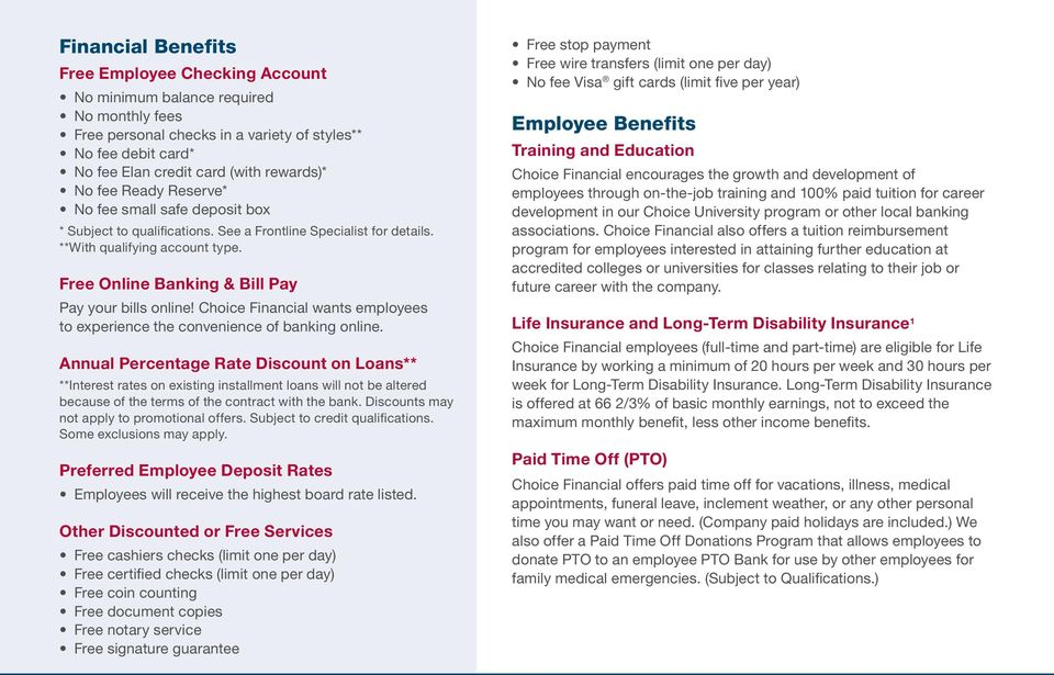 Financial & Employment Benefits for Employees  Making the