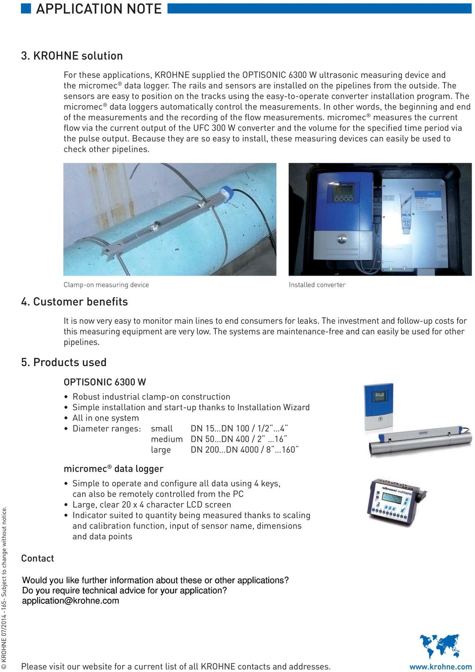 APPLICATION SAMPLES  Measurement solutions for water applications - PDF