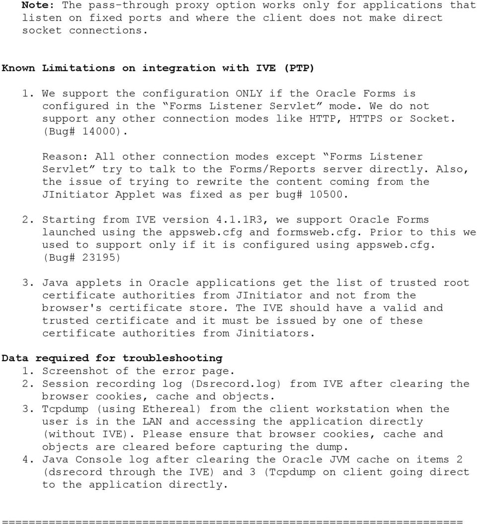 HOW TO CONFIGURE PASS-THRU PROXY FOR ORACLE APPLICATIONS - PDF