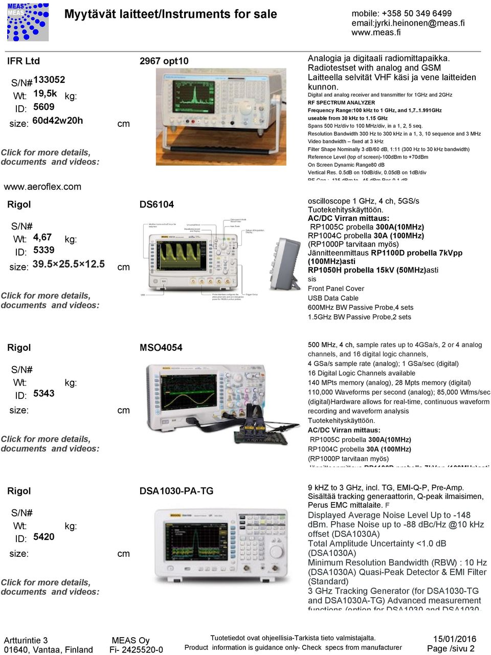 Myytvt Laitteet Instruments For Sale Mobile Pdf Audio Spectrum Analyzer Circuit Led 03 120x120 Digital And Analog Receiver Transmitter 1ghz 2ghz Rf Frequency Range