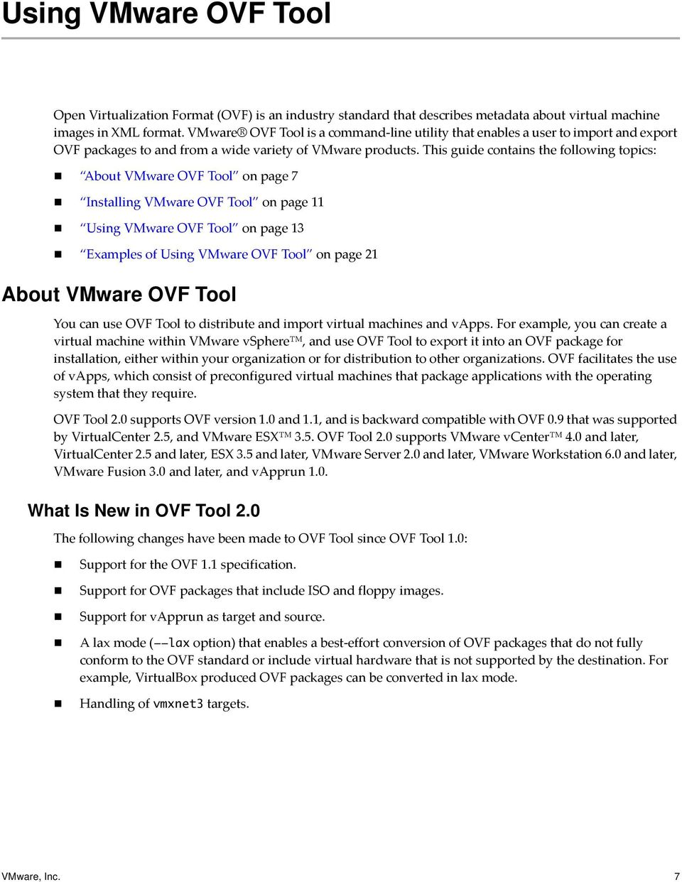 OVF Tool User Guide VMware OVF Tool PDF