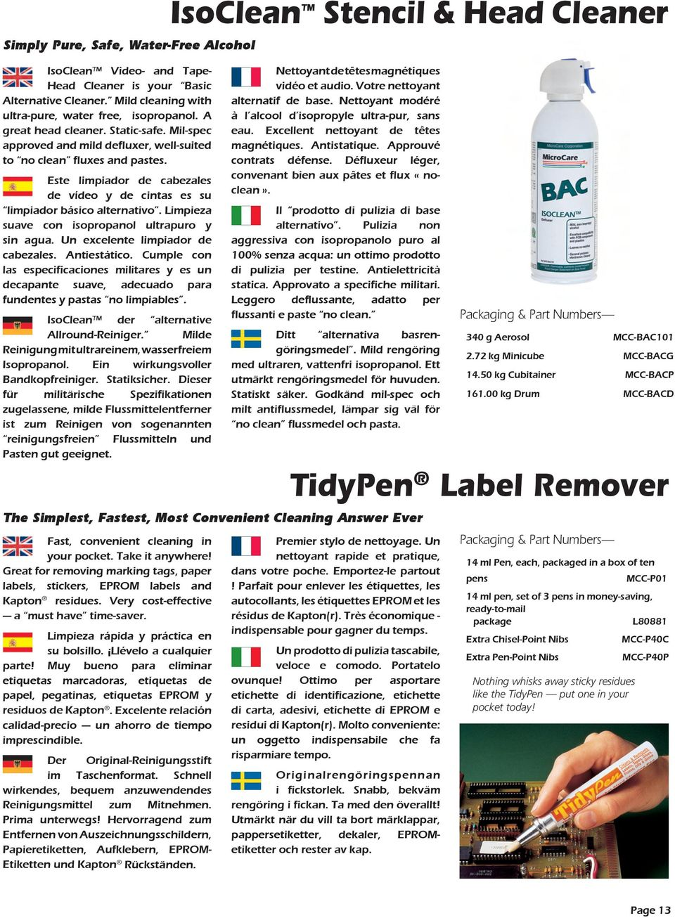 Miscela Per Pulire Il Forno cleaning products for electronics and smt assembly - pdf