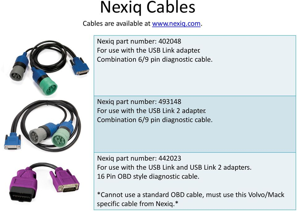 Tech Tool Adapter and Cable Guide - PDF
