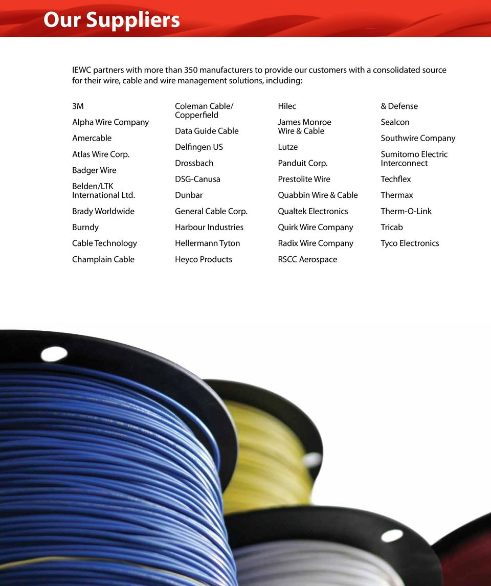 Product Catalog. Wire, Cable & Wire Management Solutions. go further on wire holder, wire nut, wire leads, wire cap, wire connector, wire lamp, wire antenna, wire sleeve, wire clothing, wire ball,