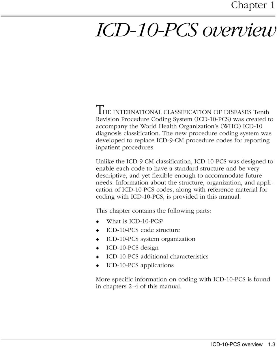 Preliminary 12 10 07 Icd 10 Pcs Reference Manual Pdf