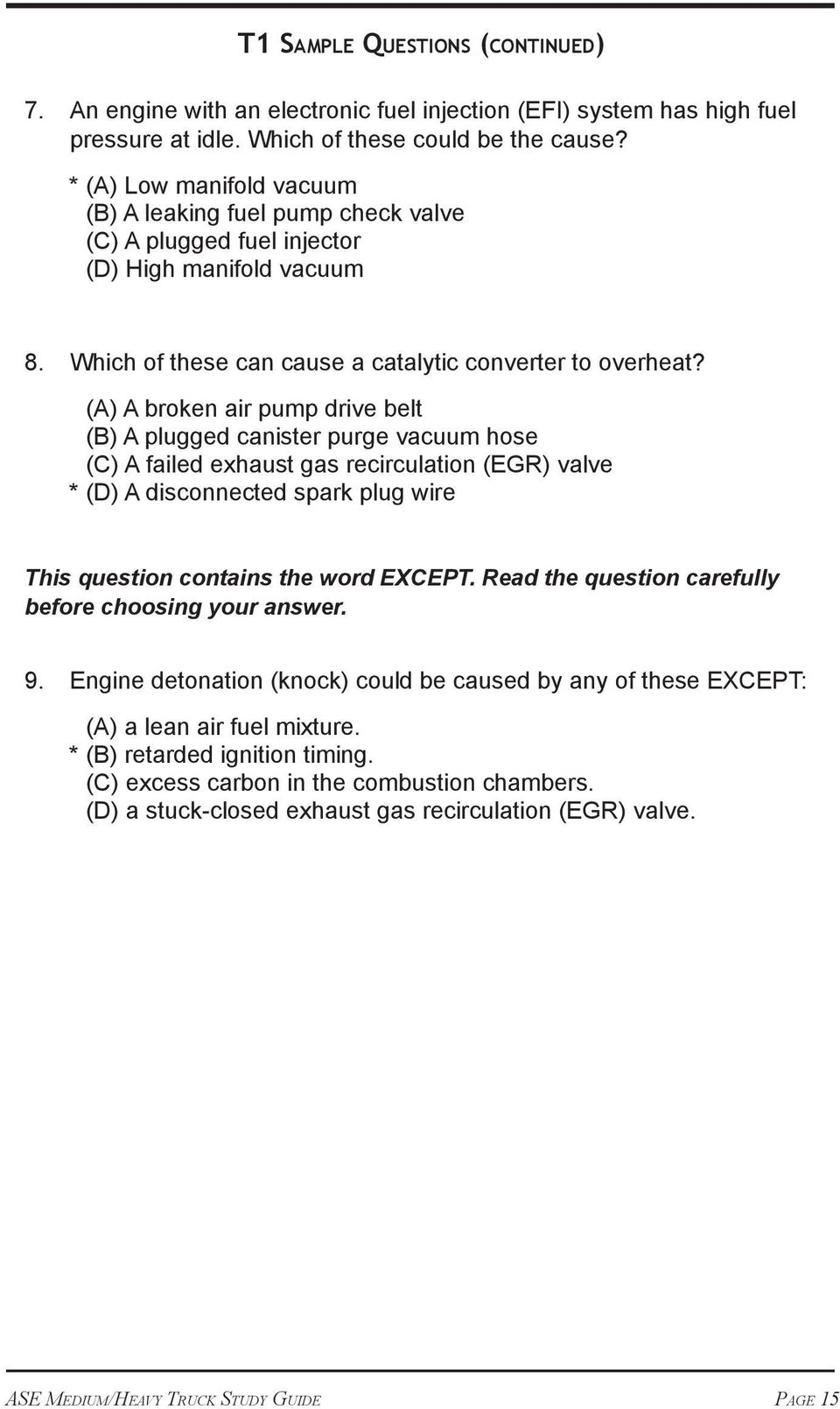 The Official ASE Study Guide  ASE Medium/Heavy Truck Tests - PDF