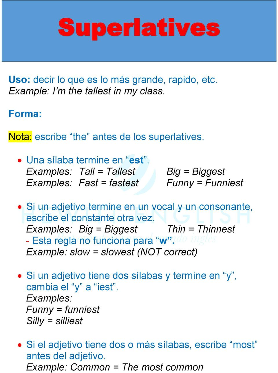 master english comparatives and superlatives learn how to use