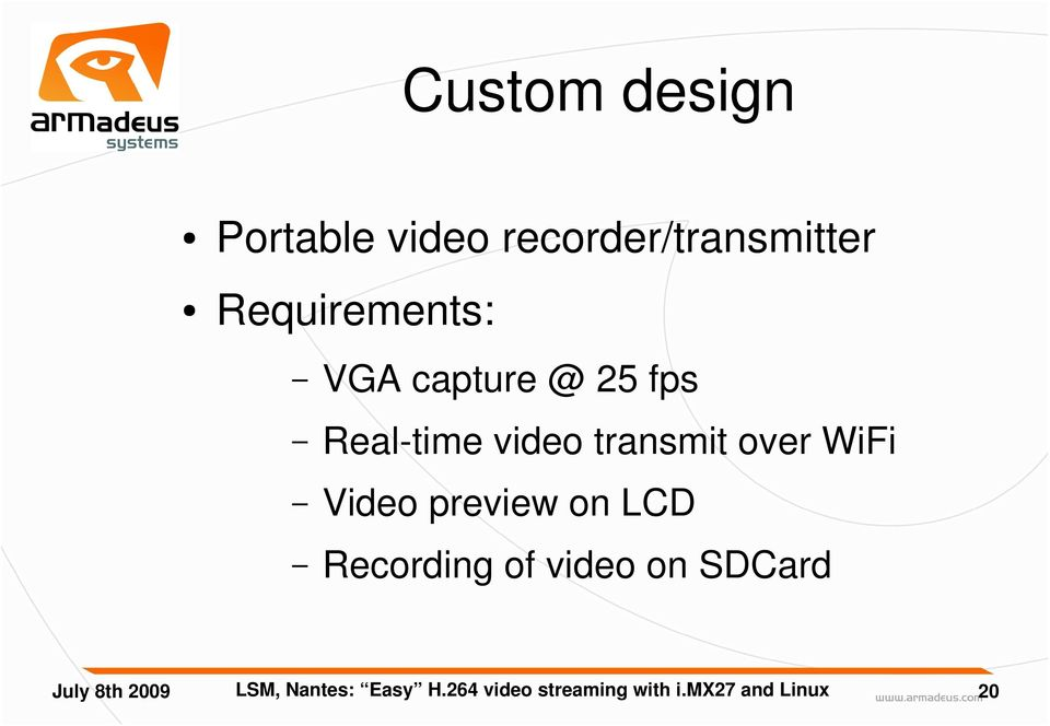 Easy H 264 video streaming with Freescale's i mx27 and Linux - PDF