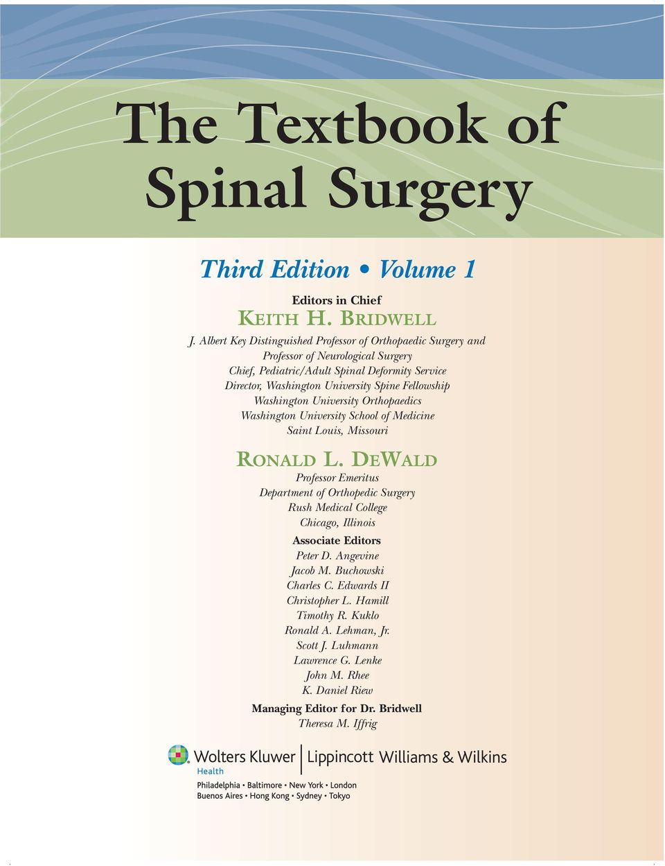 The Textbook of Spinal Surgery  Third Edition Volume 1 - PDF