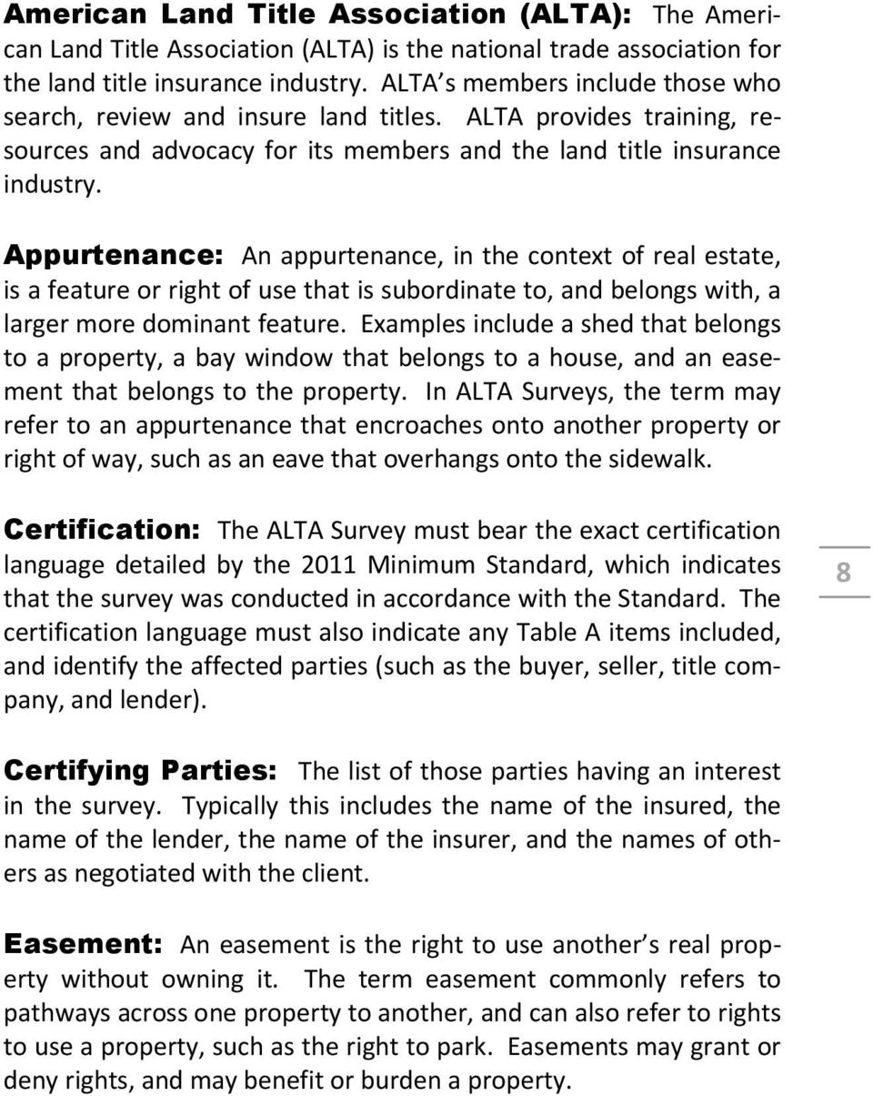 1 Introduction What Is An Alta Survey Why Is An Alta Survey Needed