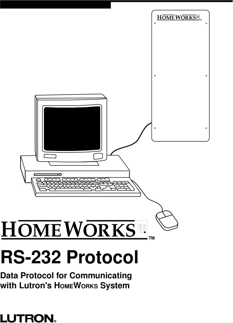Homeworks Rs 232 Protocol Data For Communicating With Lutron Wiring Diagram