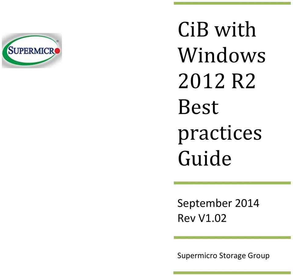 CiB with Windows 2012 R2 Best practices Guide - PDF
