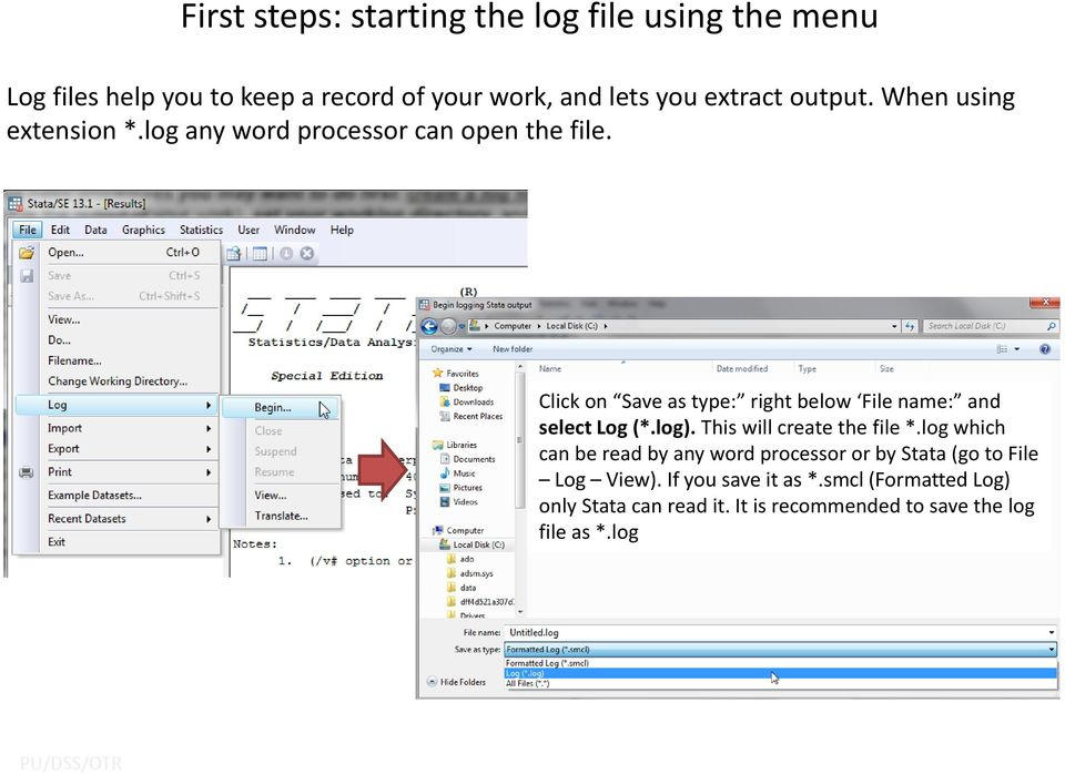 Getting Started in Data Analysis using Stata - PDF