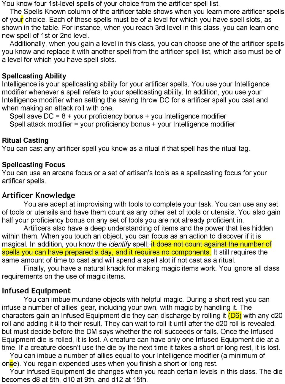 Artificer Cantrips Known Pdf Free Download If religion, spellcaster must worship the listed deity to utilize the spell. artificer cantrips known pdf free