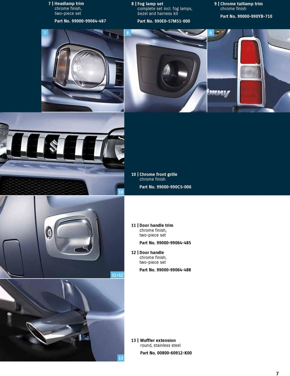 Accessories Catalogue Pdf 2000 Excursion 4x4 68l Engignition Switchwiring Harnesstrans 99000 990yb 710 7 8 9 10 Chrome Front Grille Finish Part