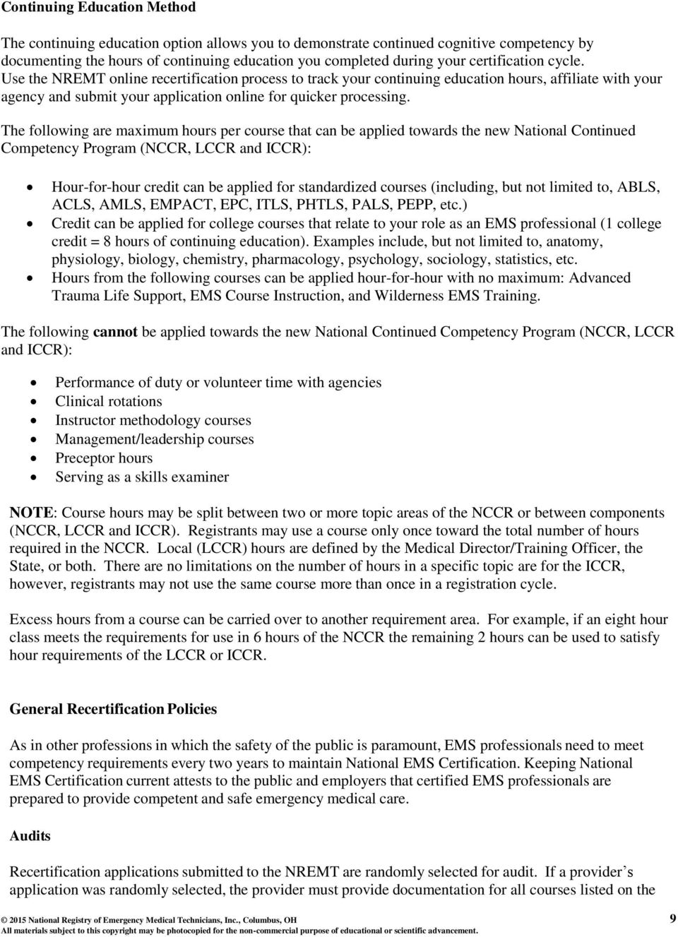 National Continued Competency Program Training Officer Guide Pdf