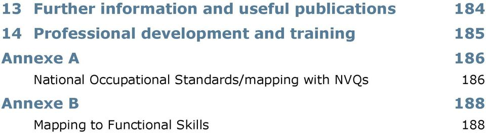 A 186 National Occupational Standards/mapping with