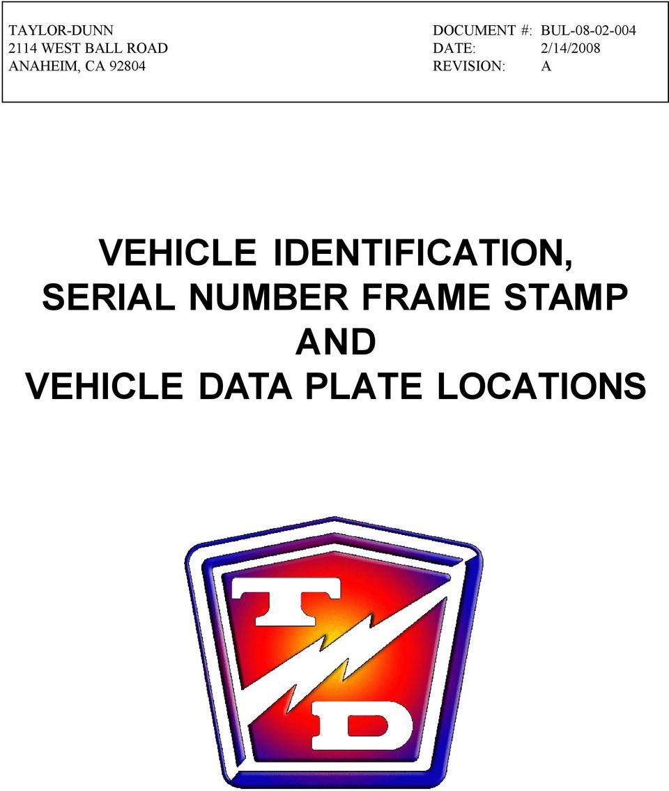 what is the serial number on a vehicle