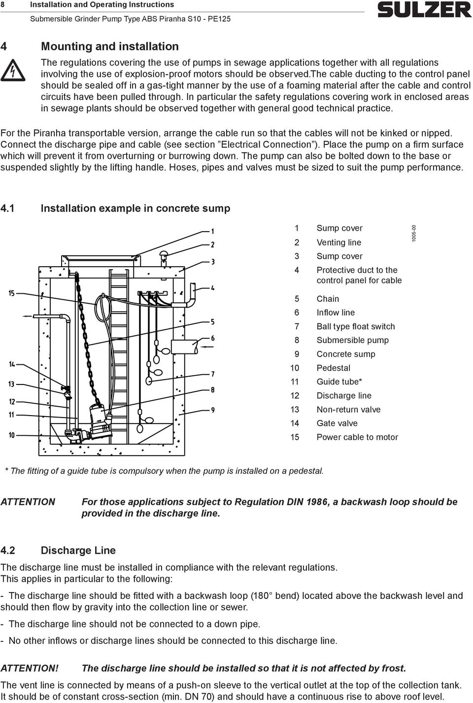 Installation Operating And Maintenance Instructions Pdf Well Pump Wiring Connection The Cable Ducting To Control Panel Should Be Sealed Off In A Gas Tight
