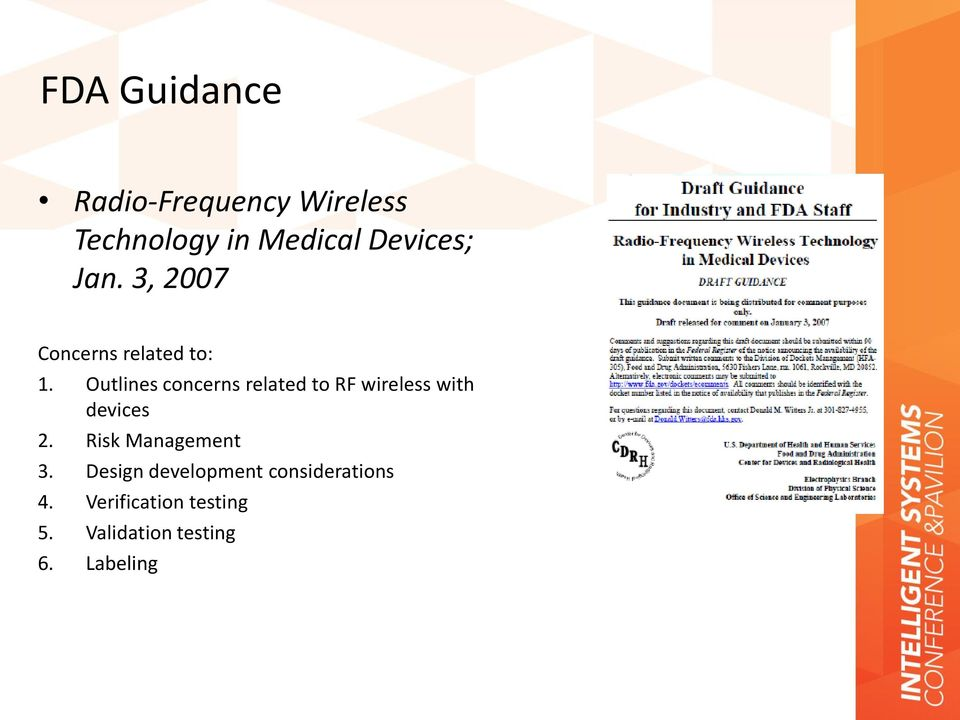 Wireless Technology and RF Standard in Medical Device Development - PDF