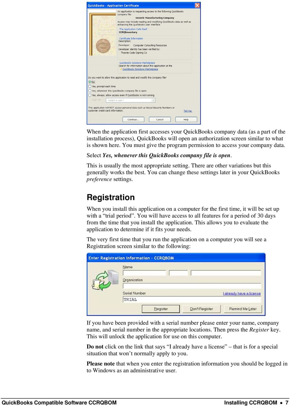 QuickBooks Compatible Software CCRQBOM  By CCRSoftware - PDF