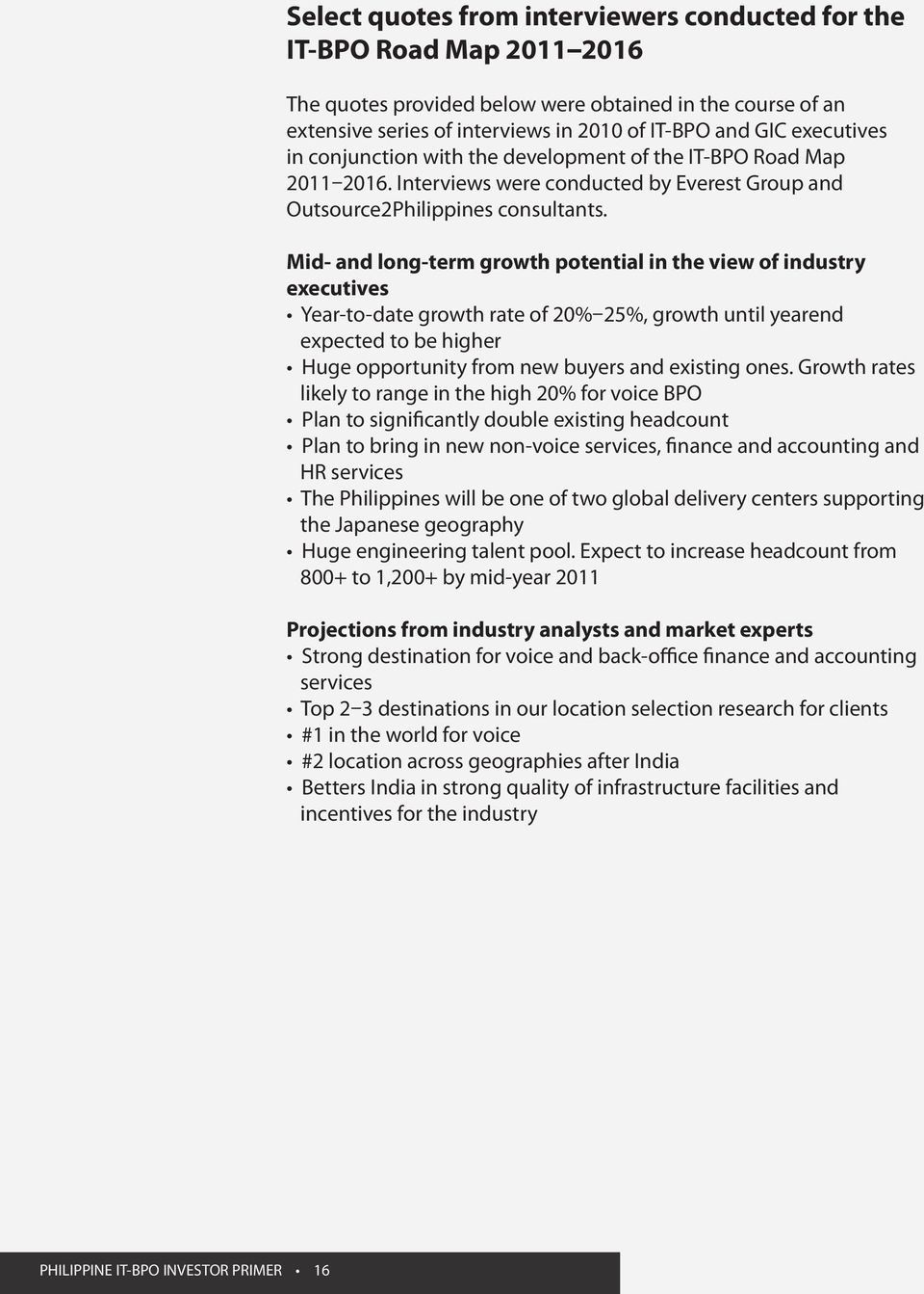 Contents  Executive Summary  State of the IT-BPO and Global