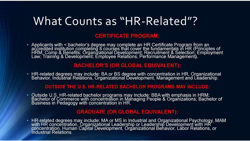 hr certifications: hrci vs. shrm what happened and what do i do now ...