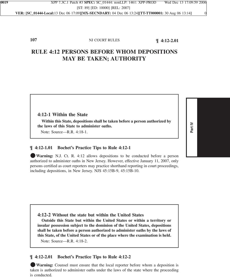 Rule 412 Persons Before Whom Depositions May Be Taken Authority Pdf