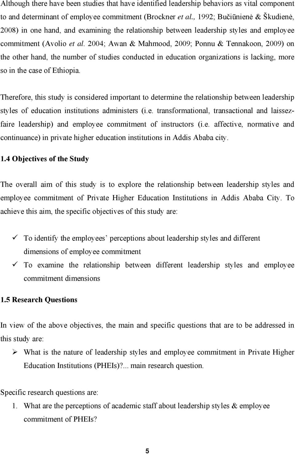 research on leadership styles