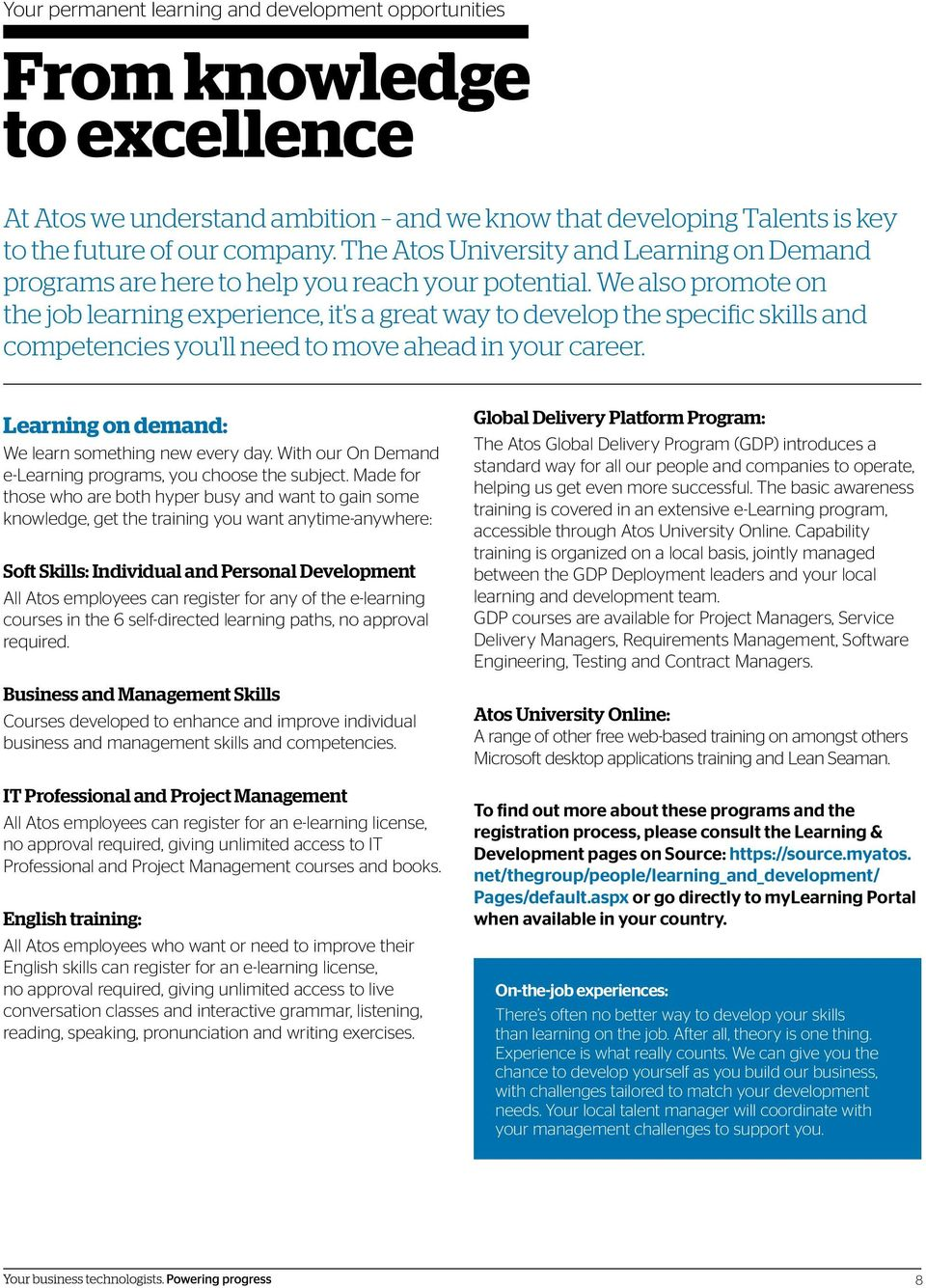 Discover the Atos Talent program to take you from job to